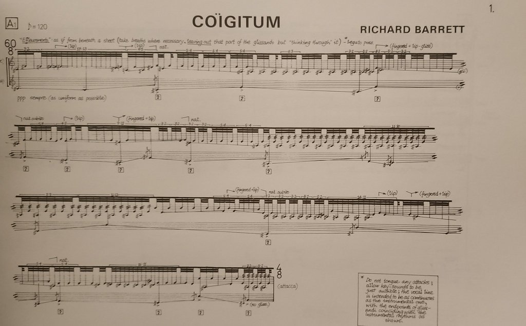 Coigitum 1st Work In The Series 'after Roberto Matta'  Richard Barrett Soprano et piano United Music Publishers Ltd UM10309