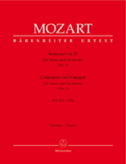 Mozart, Wolfgang Amadeus, Concerto For Horn And Orchestra No. 1 D Major Kv 412 + 514 (386b), , Horn/Orchestra Ba 5314 Mozart, Wolfgang Amadeus  [Édi:] Gieglin Bärenreiter