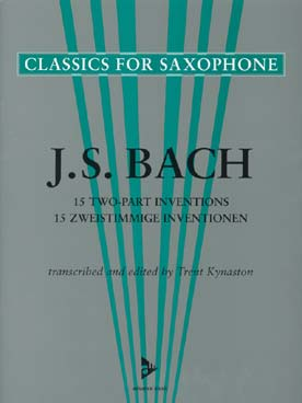 15 Two-Part Inventions Adv 7021 Bach, Johann Sebastian [Arr:] Kynaston, Saxo Advance