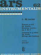 Concerto for Violin, Strings and basso continuo Leclair, Jean-Marie V-solo, Str, Bc SIK0769 P  Sikorski