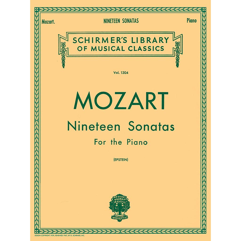 19 Sonatas - Complete; For the Piano HL50258580 Wolfgang Amadeus Mozart Piano Schirmer