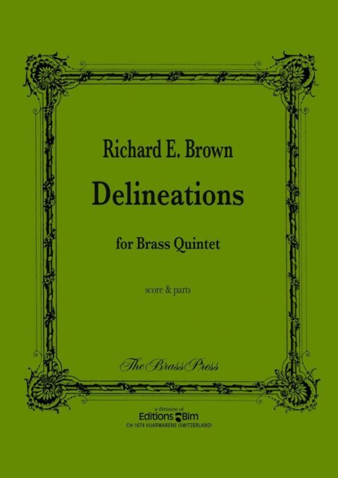 Delineations ENS83 Brown Richard E. brass quintet Brass Press