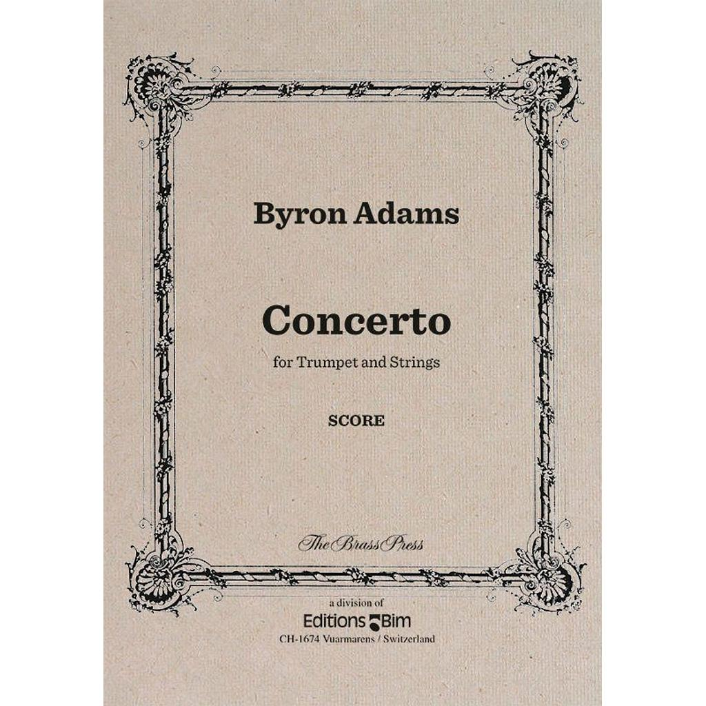Concerto TP116a Adams Byron trompette et orchestre à cordes Réduction trompette et piano Brass Press