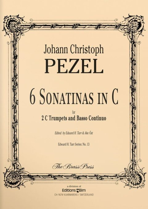 6 Sonatinas in C TP158 Pezel Johann 2 trumpets organ Brass Press