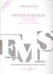 Dictees Musicales Volume 1 - Eleve + Cd GB4808 Jollet Jean-Clément Billaudot