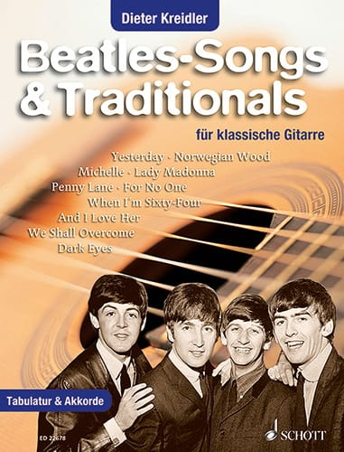 Beatles-Songs & Traditionals  Beatles Piano Solo (avec Paroles & Accords) ED22678