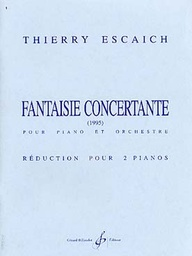 [GB6116] Fantaisie Concertante Pour Piano Et Orchestre - Red. 2 Pianos (2 Pianos - Réduction Dorchestre) Escaich Gb6116 Escaich Piano 4mains Billaudot