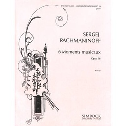 [EE3170] 6 Moments Musicaux Opus 16 Ee3170 Rachmaninov Serge Piano
