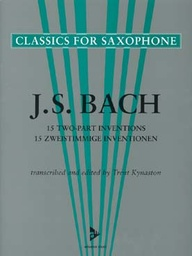 [ADV7021] 15 Two-Part Inventions Adv 7021 Bach, Johann Sebastian [Arr:] Kynaston, Saxo Advance