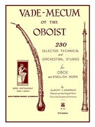 [B412] Vade Mecum Of The Oboist  (230 Selecte B412 Albert J. Andraud Oboe Southern