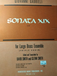 [Amp-6921] sonata XIX for large brass ensemble Giovanni Gabrieli Cuivres Associated Music Publishers Amp-6921