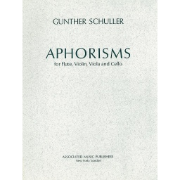 [HL50226750] Aphorisms; Score and Parts HL50226750 Gunther Schuller Flute, Violin, Viola and