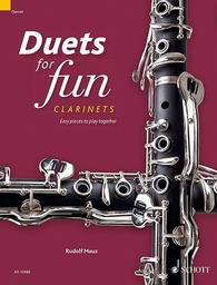[ED13886] Duets for fun clarinets 2 Clarinettes Schott Music ED13886