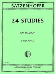 [b750] 24 Daily Exercises  Simon Kovar Bassoon Southern Music Company B750