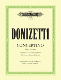[EP8206 ] Clarinet Concertino in B flat  Donizetti Gaetano Edition Peters EP8206