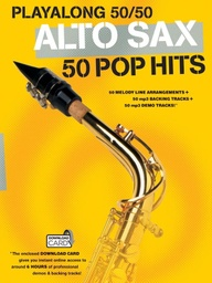 [MUSAM1006489] Playalong 50/50: Alto Sax - 50 Pop Hits MUSAM1006489